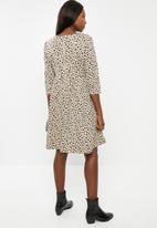 Glamorous - Maternity dalmation dress - beige & black