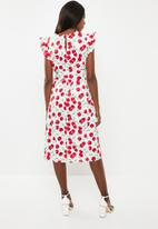Glamorous - Maternity cherry tie waist dress - multi