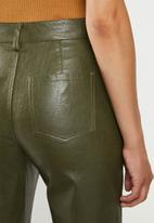 Glamorous - Pu crop trouser - khaki