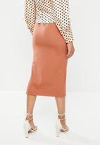 Glamorous - Pencil skirt - faded rust