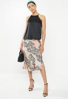 Glamorous - Leopard midi skirt - multi