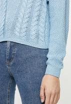 ONLY - Sara long sleeve pullover - blue