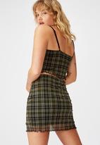 Factorie - Mesh skirt - khaki & black