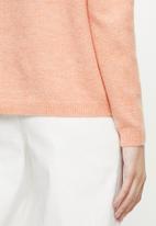 Vero Moda - Rana long sleeve o-neck knit - coral