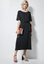 Superbalist - Fit & flare belted dress - black