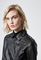 Superbalist - Pu biker  jacket - black