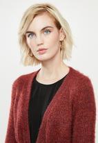 Vero Moda - Glassy long sleeve wrap cardigan - madder brown