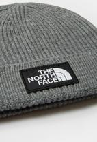 The North Face - The North Face logo box cuf beanie - grey