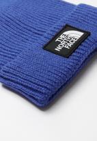 The North Face - The North Face logo box cuffed beanie - blue