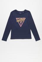 GUESS - Long sleeve Guess becky tri tee - navy
