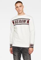 G-Star RAW - G-star jacquard sweater - off white