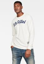G-Star RAW - G-star graphic long sleeve tee - off white