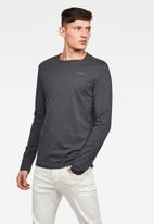 G-Star RAW - Block originals gr slim long sleeve - grey