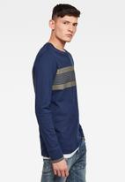 G-Star RAW - Memula stripe long sleeve tee - blue