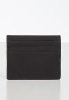 BOSSI - Leather antcch cardholder - black