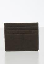 BOSSI - Leather antcch wallet - brown