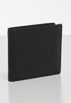 BOSSI - Leather anteb wallet - black
