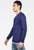 G-Star RAW - Basic chest pocket knit - blue