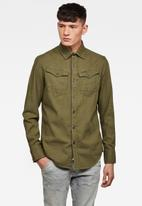 G-Star RAW - Arc 3D slim fit long sleeve shirt - khaki