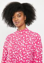 Glamorous - Spot leopard tunic - pink & white