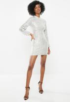 Blake - Sequin mini dress - silver