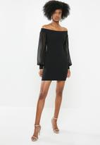 Blake - Bardot mini dress - black