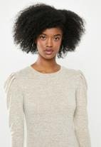 Blake - Cut and sew mini dress - neutral