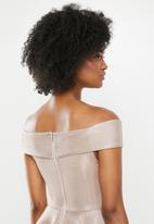 Blake - Bardot mini dress - neutral