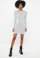 Blake - Cut and sew mini dress - grey