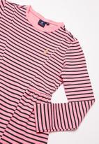 POLO - Girls Harper dress - pink & navy