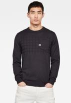 G-Star RAW - Basic chest pocket knit - charcoal