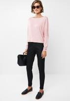 edit - Slouch crew neck top - pink