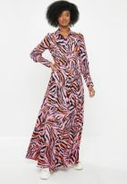 Glamorous - High neck zebra maxi dress - multi