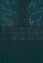 MILLA - Lace pleated dress - teal