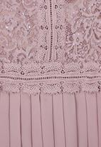 MILLA - Lace pleated dress - purple