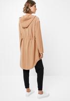 edit - Hooded lightweight parka - neutral