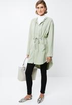 edit - Hooded lightweight parka - green