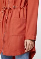 edit - Hooded lightweight parka - orange