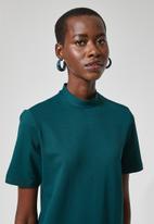 Superbalist - Hi neck shift dress - teal