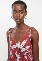 MANGO - Printed strap dress - multi