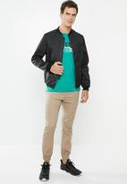 The North Face - Mountain line tee - green