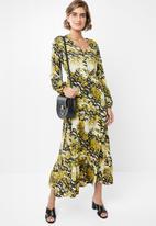 edit - Soft tiered midi dress - multi