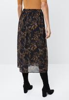 edit - Chiffon floral midi skirt - multi
