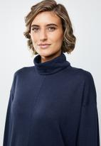 edit - Long sleeve turtleneck top - navy