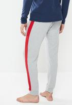 Tommy Hilfiger - Jersey panel pant - grey & red