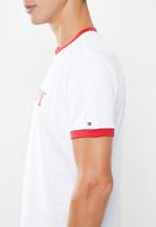 Tommy Hilfiger - Essential short sleeve tee logo - white & red