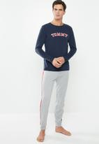 Tommy Hilfiger - Essential long sleeve tee logo - navy