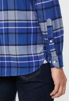 Tommy Hilfiger - Classic tartan shirt - blue
