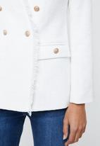 edit - Textured military jacket - milk