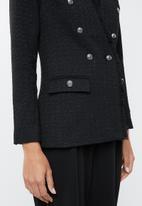 edit - Textured military jacket - black